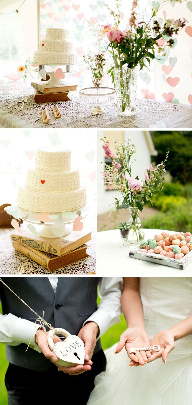 Vintage DIY Wedding with Homemade Macaroons | Cake table, Wedding ...