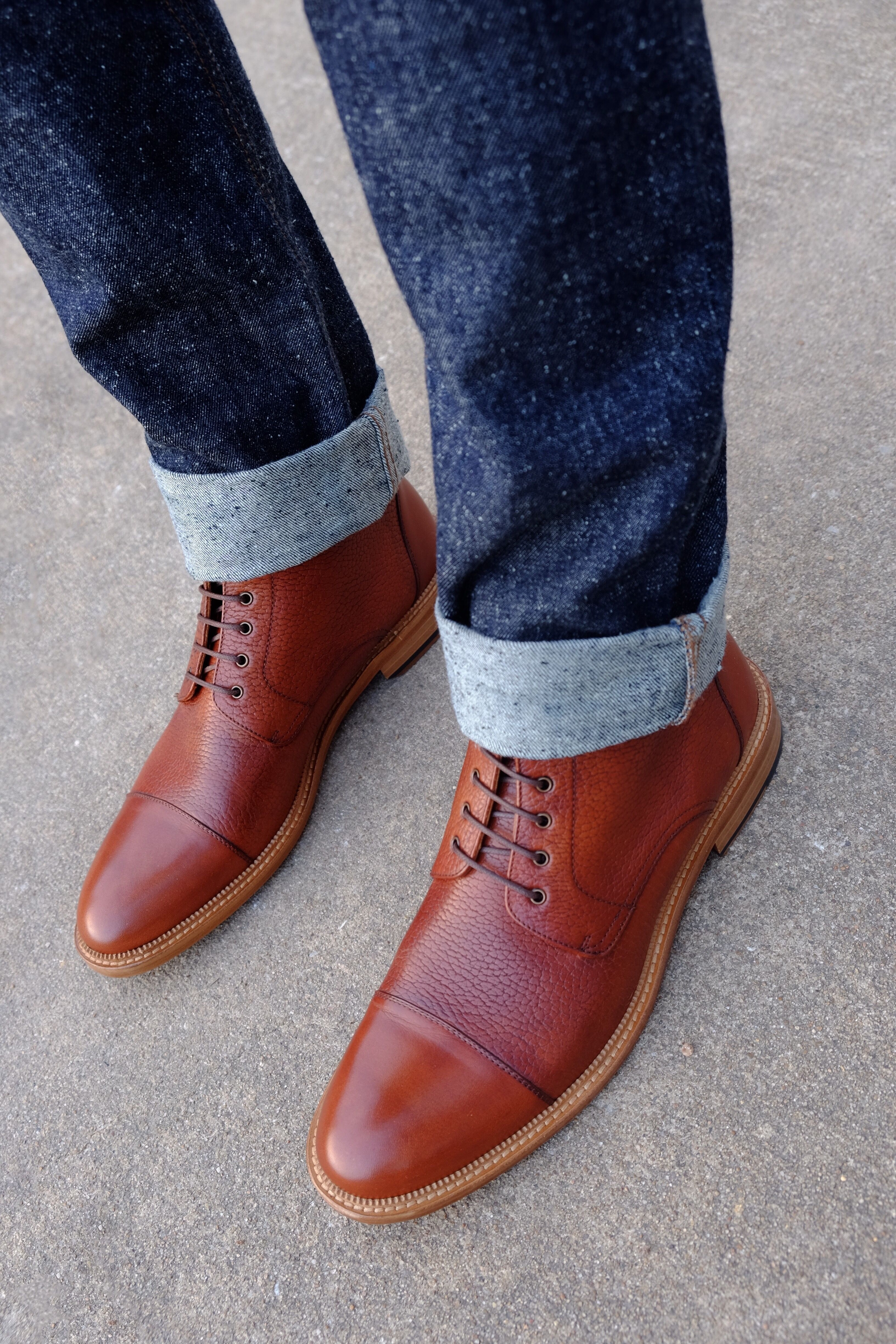 Awesome Rome boots by Taft and paired with nep denim! texture heaven!  Follow @