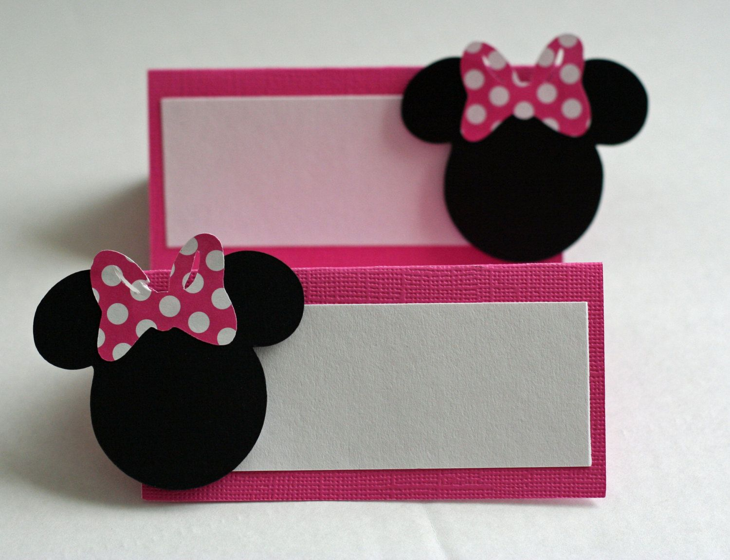 Minnie mouse food tent card