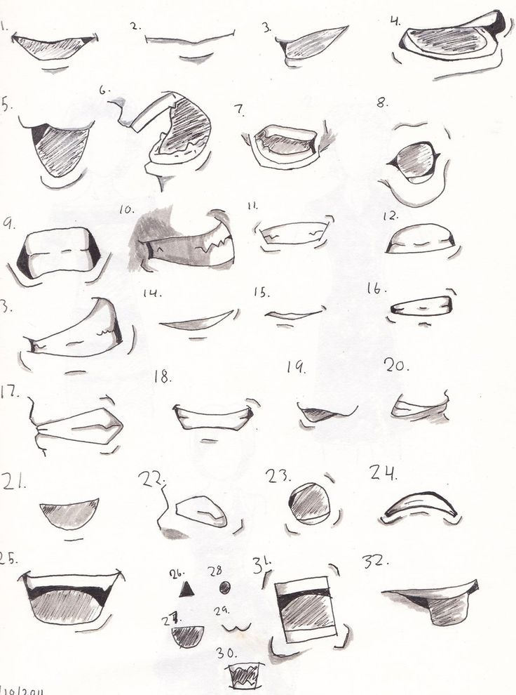 Draw Anime Mouth : anime, mouth, Image, Result, Anime, Smirk, Mouth, Drawing,, Drawings, Sketches,, Drawing