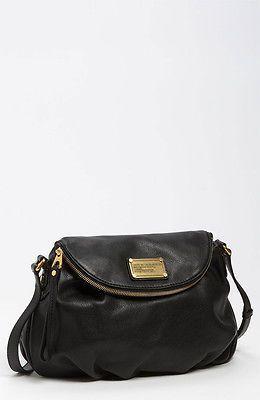 Marc by Marc Jacobs Classic Q Natasha Black Leather Crossbody Bag | eBay