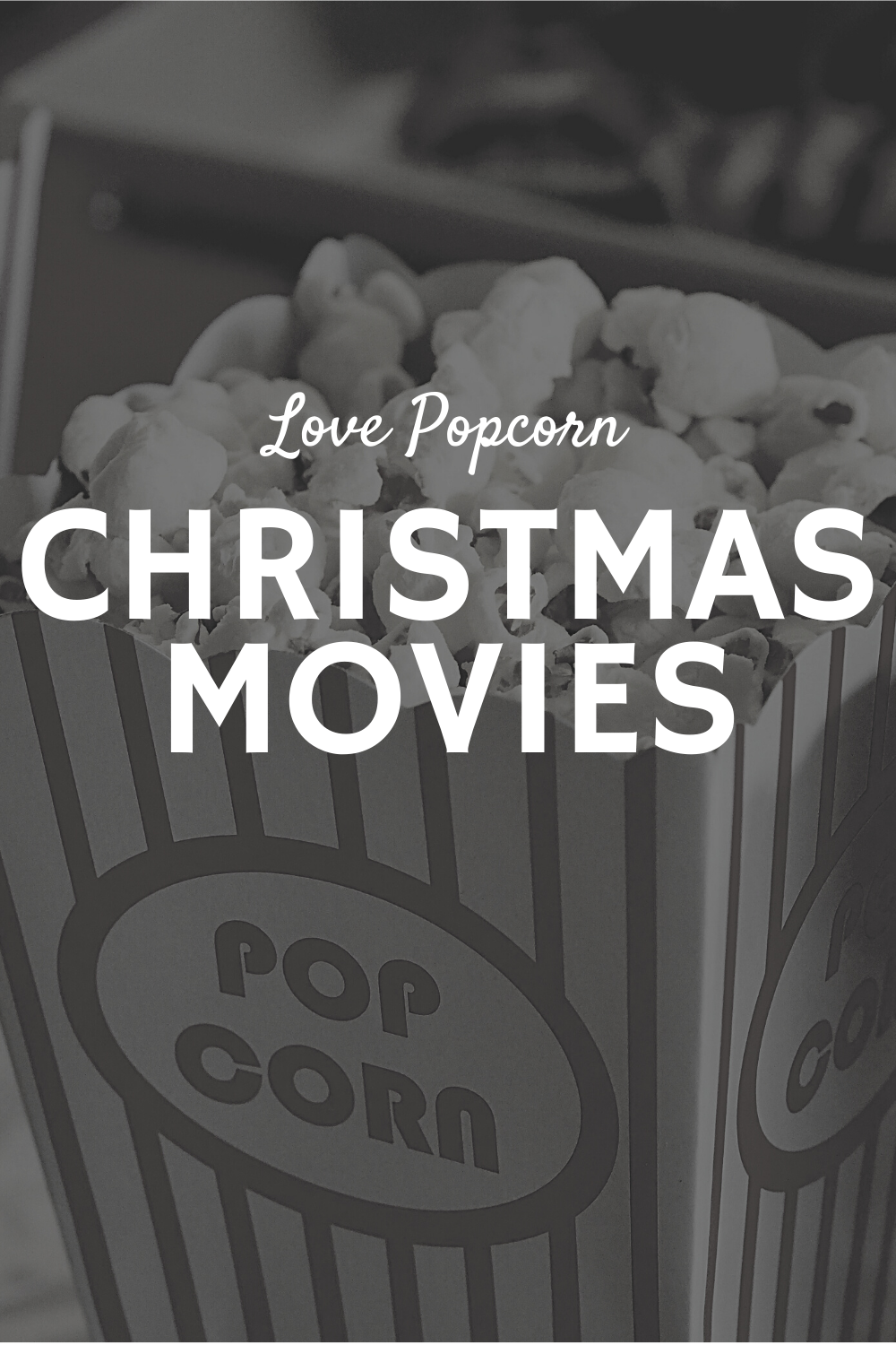 A board celebrating all movie things Christmassy.  #christmasmovies