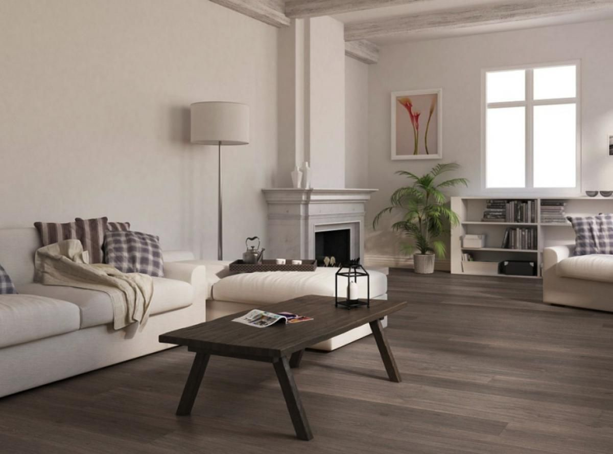 living room with gray laminate flooring with grey laminate flooring for living room with white sofa and the arch - Laminate Flooring Ideas Living Room