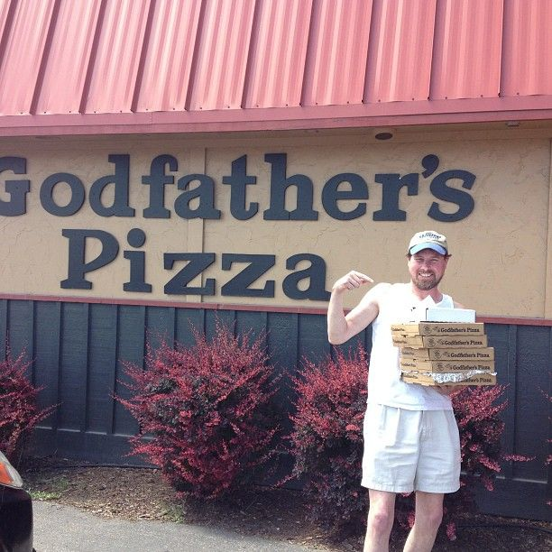 """I drove 579 miles to get my Godfathers Pizza fix! My half baked pies! "" (Via Instagram user swtppr)"