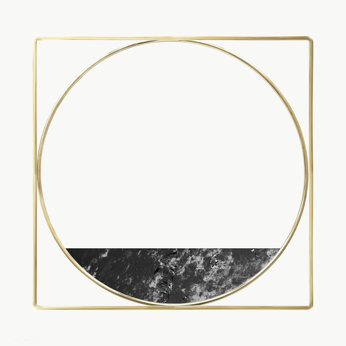 Download Premium Png Of Gold Square And Round Frame Decorated With A In 2020 Gold Framed Mirror Marble Frame Mirror Pink Marble Background