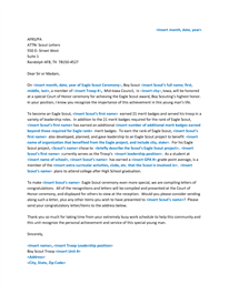 Sample Eagle Scout Congratulatory Letter Request Eagle Court Of