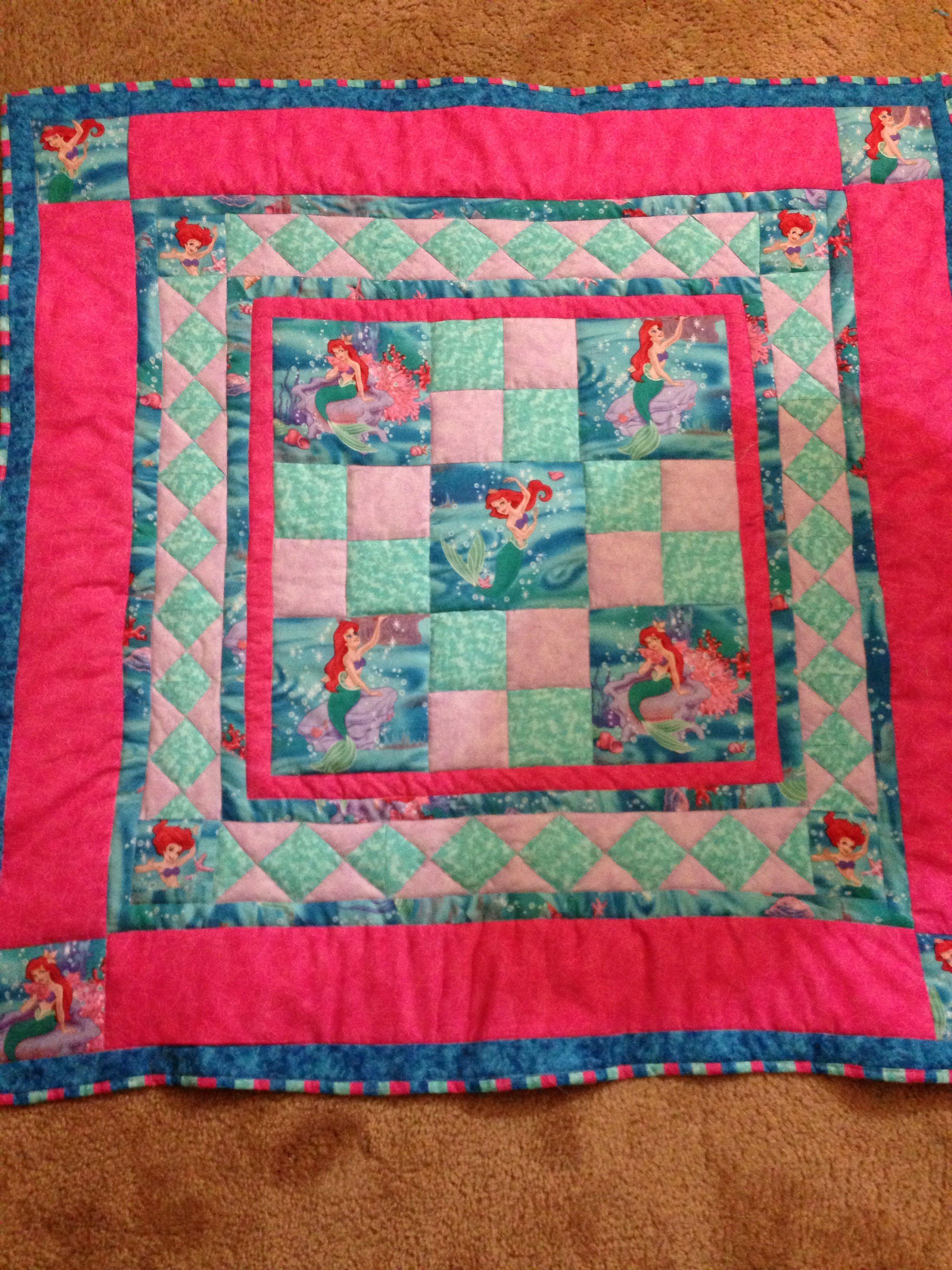 Little Mermaid Quilt Quilts Pinterest Mermaid Quilt