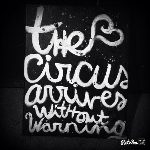 Opening line of The Night Circus by Artist Darling | We Heart It