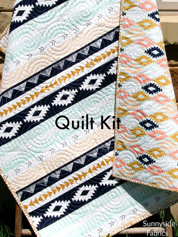 Arizona Quilt Kit, Tribal Baby Bedding Blanket Project, April ... : whole cloth quilt kits - Adamdwight.com