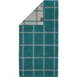 Photo of Cawö Handtücher Luxury Home Two-Tone Grafik 604 smaragd – 44 – Handtuch 50×100 cm Cawö
