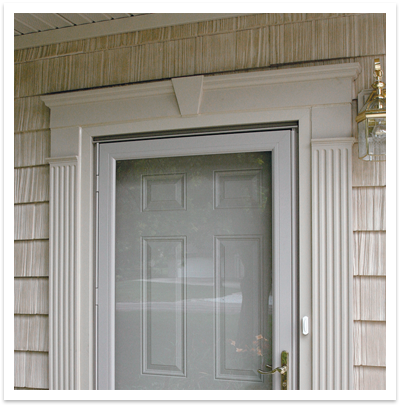 Exterior Window Headers And Pilasters Door Surrounds Exterior Door Trim Door Header Exterior Front Doors