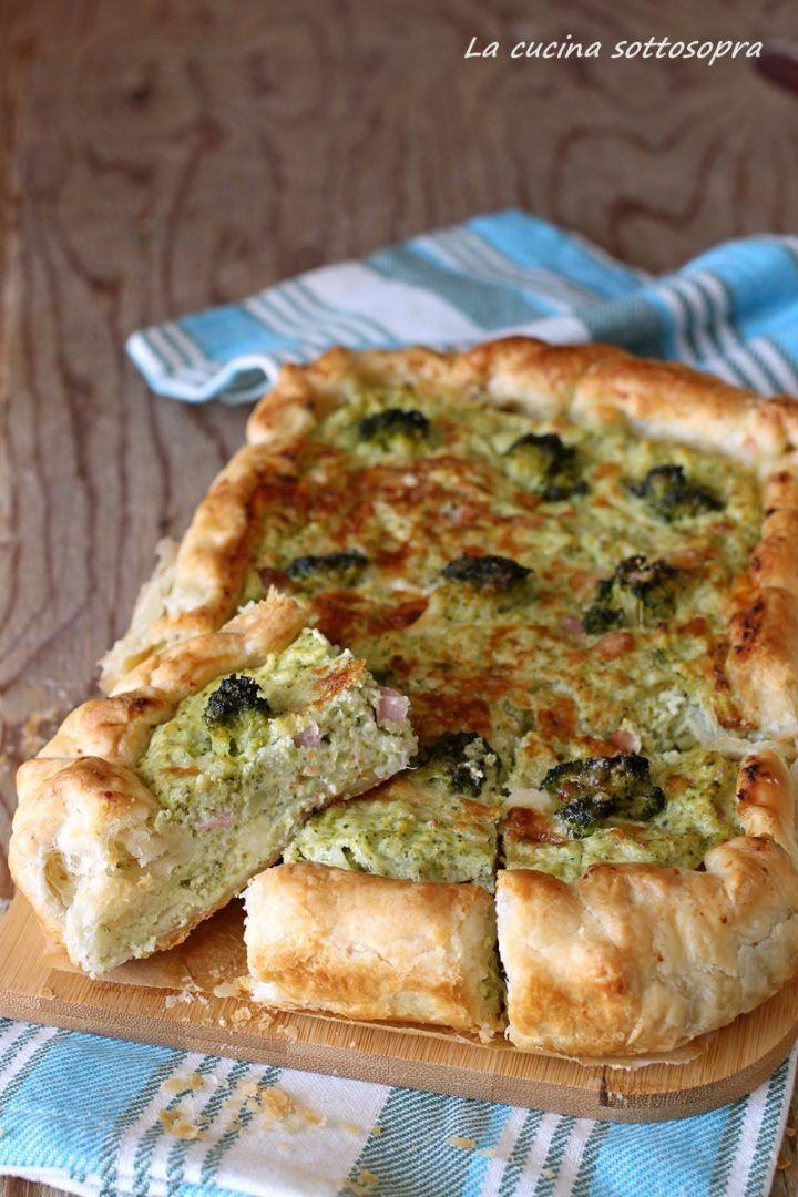 Torta Salata Con Broccoli E Ricotta Facilissima La Cucina Sottosopra Idee Alimentari Torte Salate Ricette