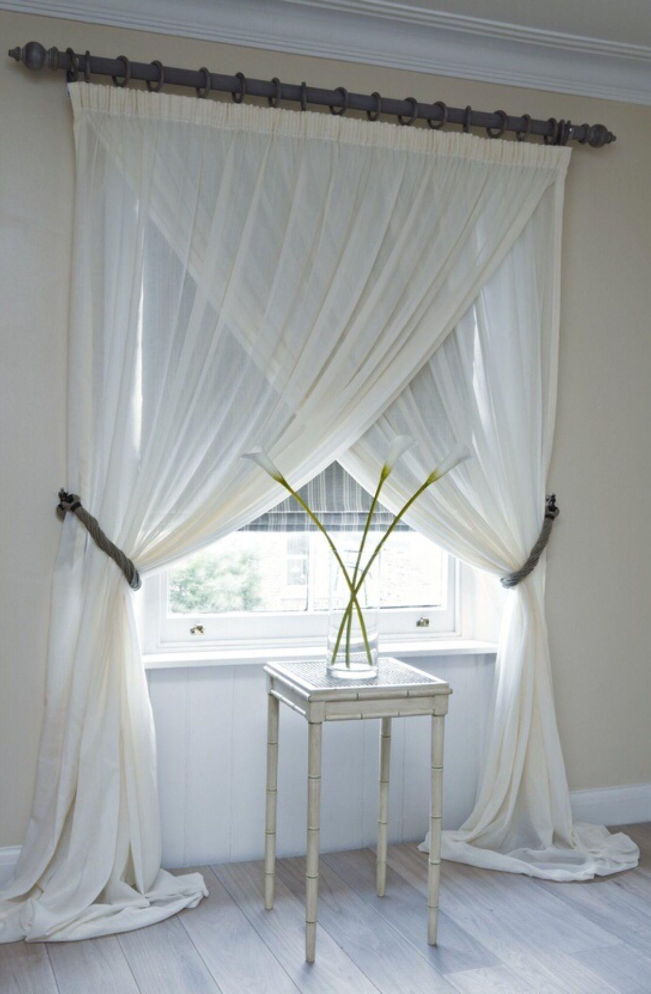 Bed against window with curtains  pin by rayna wooten on do this look  pinterest  bedrooms master