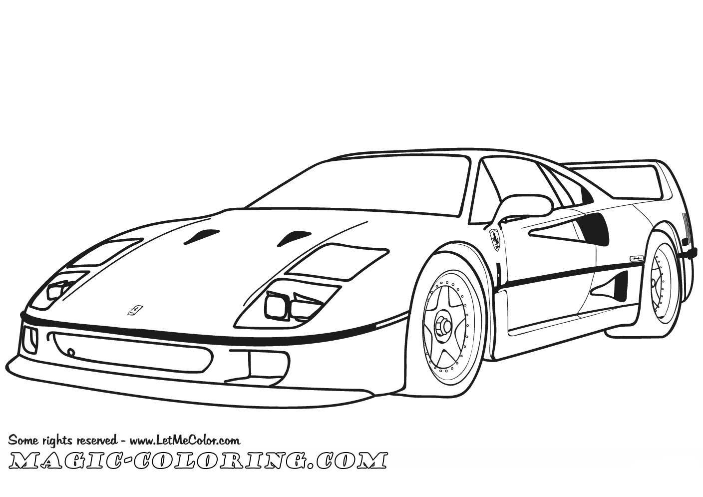 Ferrari F40 Coloring Page Cars Coloring Pages Coloring Pages Ferrari F40