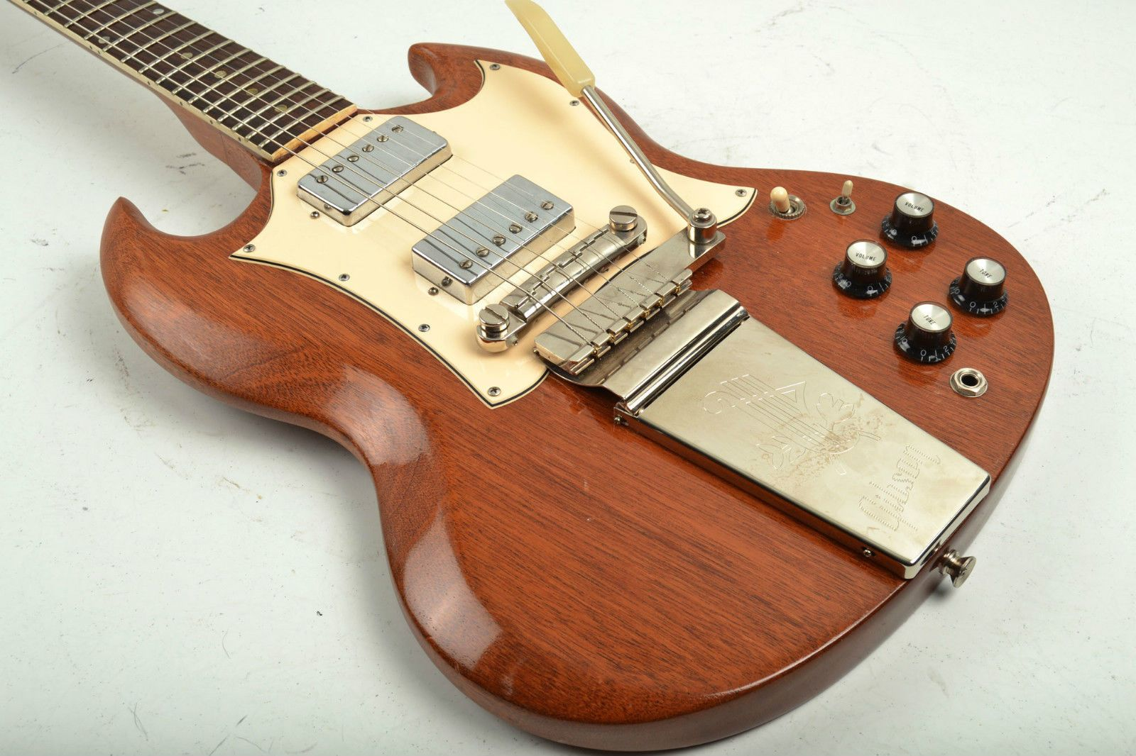 vintage 1969 gibson sg special converted humbuckers refinished guitar modified [ 1600 x 1066 Pixel ]