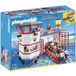 Poste de secours des sauveteurs en mer Playmobil 5539