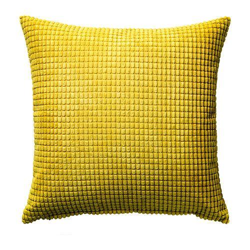 GULLKLOCKA Housse de coussin, jaune | Lèche vitrine | Housse de