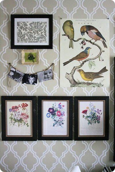 painted wall dans le mien chez soi je suis la reine. Black Bedroom Furniture Sets. Home Design Ideas