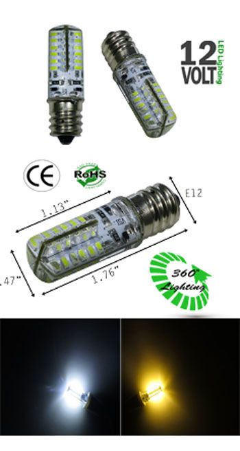 E12 Led 2 Watt Dc12v Ncnrnw Low Voltage Ledlight Led Led Bulb Watt