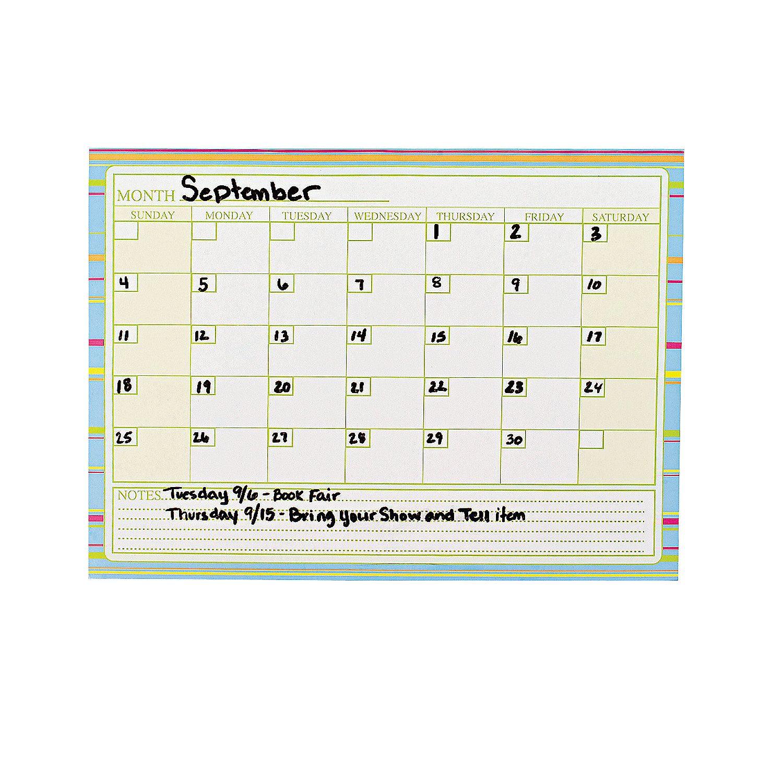 Dry Erase Month Calendar Sheets Set 24 On Sale For 6 99