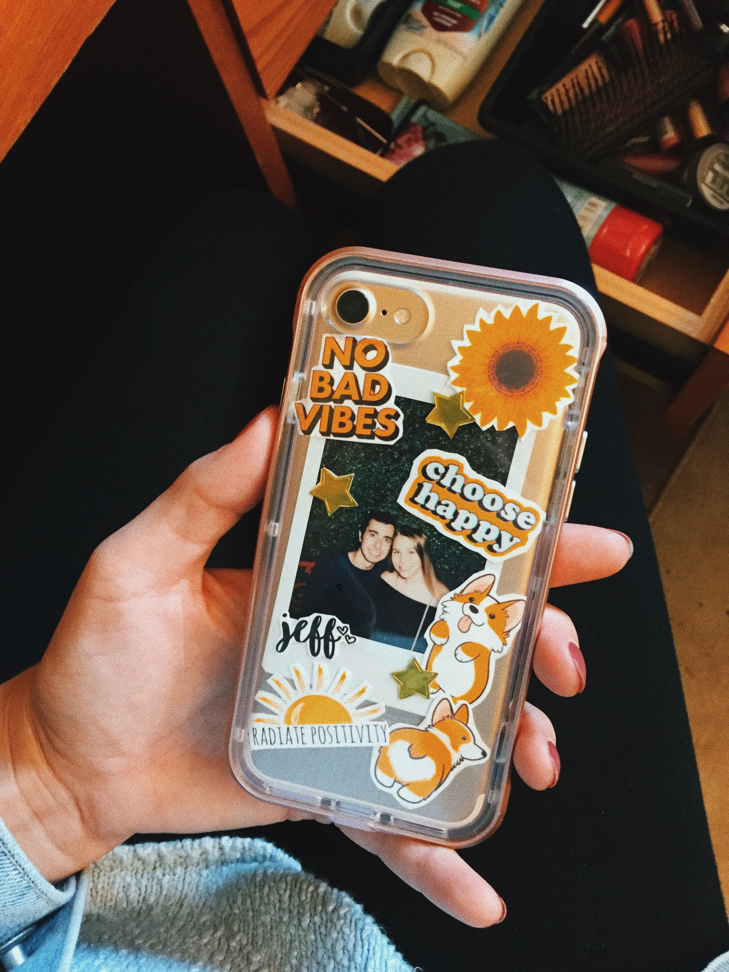8f0fec6ce55 iphone 7, diy phone case, yellow, tumblr, stickers | iPhone in 2019 ...
