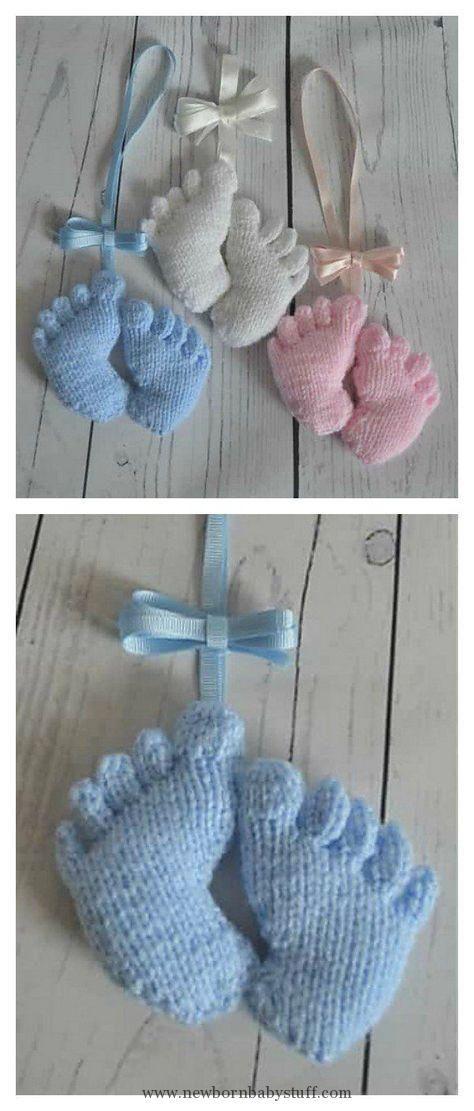 Baby Knitting Patterns Amigurumi Baby Footprints Knitting Pattern ...