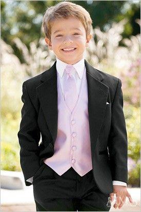 Custom Made Stylish Toddler Child White Boys Kids Tuxedo Suit For