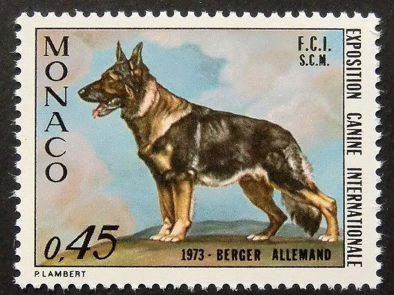 Berger Allemand German Shepherd Dog Framed By Passiongiftstampart Postage Stamp Art Postage Stamps German Shepherd Dogs
