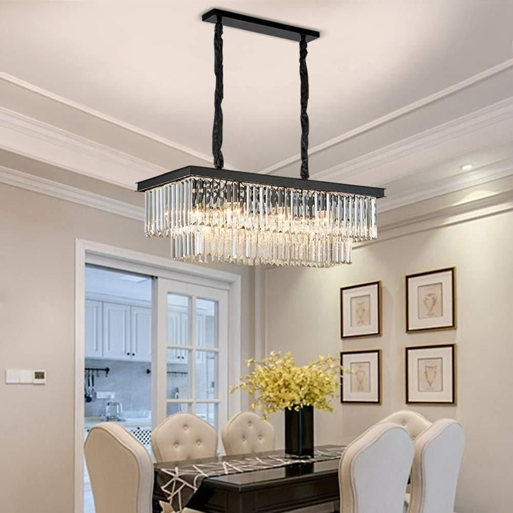 Vintage Clear Crystal Rectangular Chandelier Dining Room Crystal Chandelier Dining Room Dining Room Chandelier Dining Room Chandelier Modern Cheap chandeliers for dining room