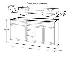 15++ Standard bathroom vanity size information