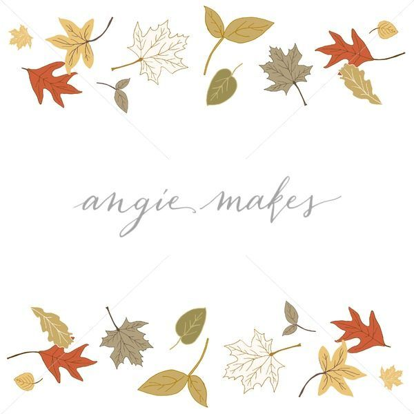 Cute Fall Leaves Border Angie Makes Stock Shop Fall Leaves Drawing Fall Watercolor Autumn Leaves