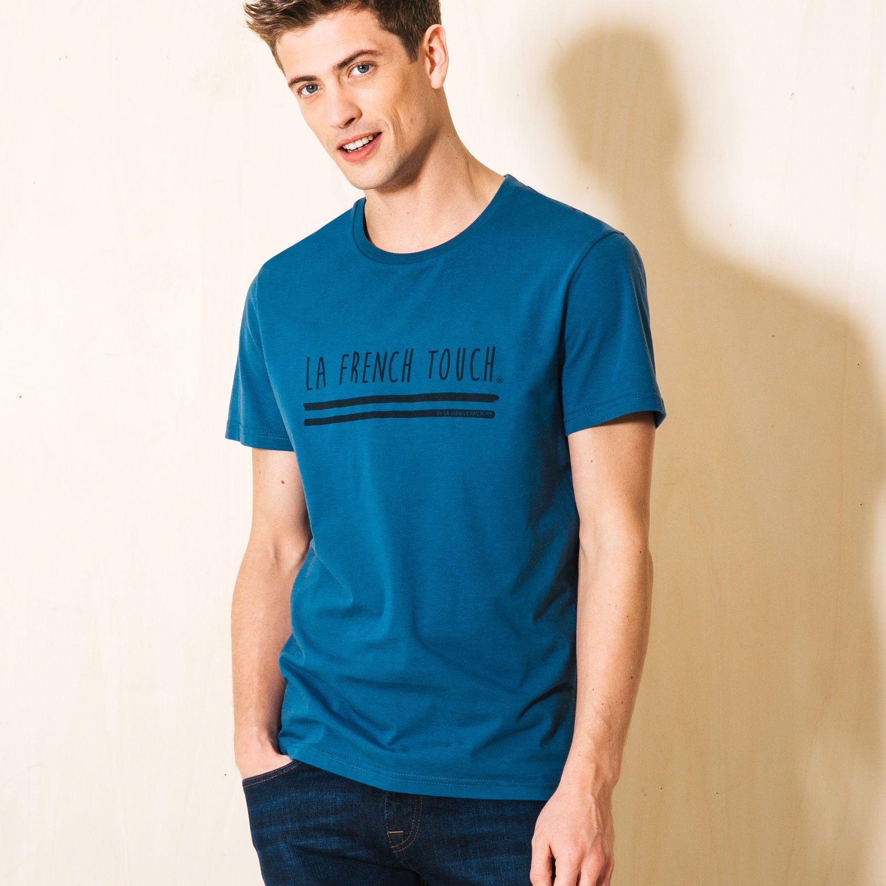 T-shirt made in France Bleu Canard Homme - Jules