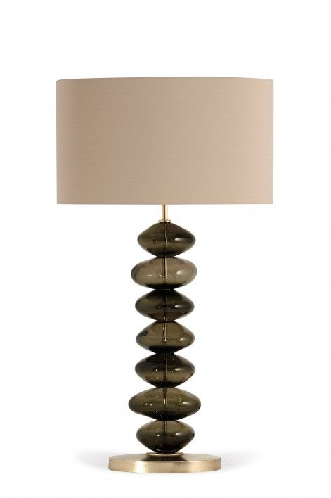 Large adam lamp bronze with antiqued brass base