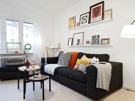 Sof negro new mini tiny home pinterest sofa gris for Sofa gris y blanco