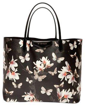 e7a716615fe0 Givenchy Antigona Medium Floral Saffiano Faux-leather Black Tote Bag ...
