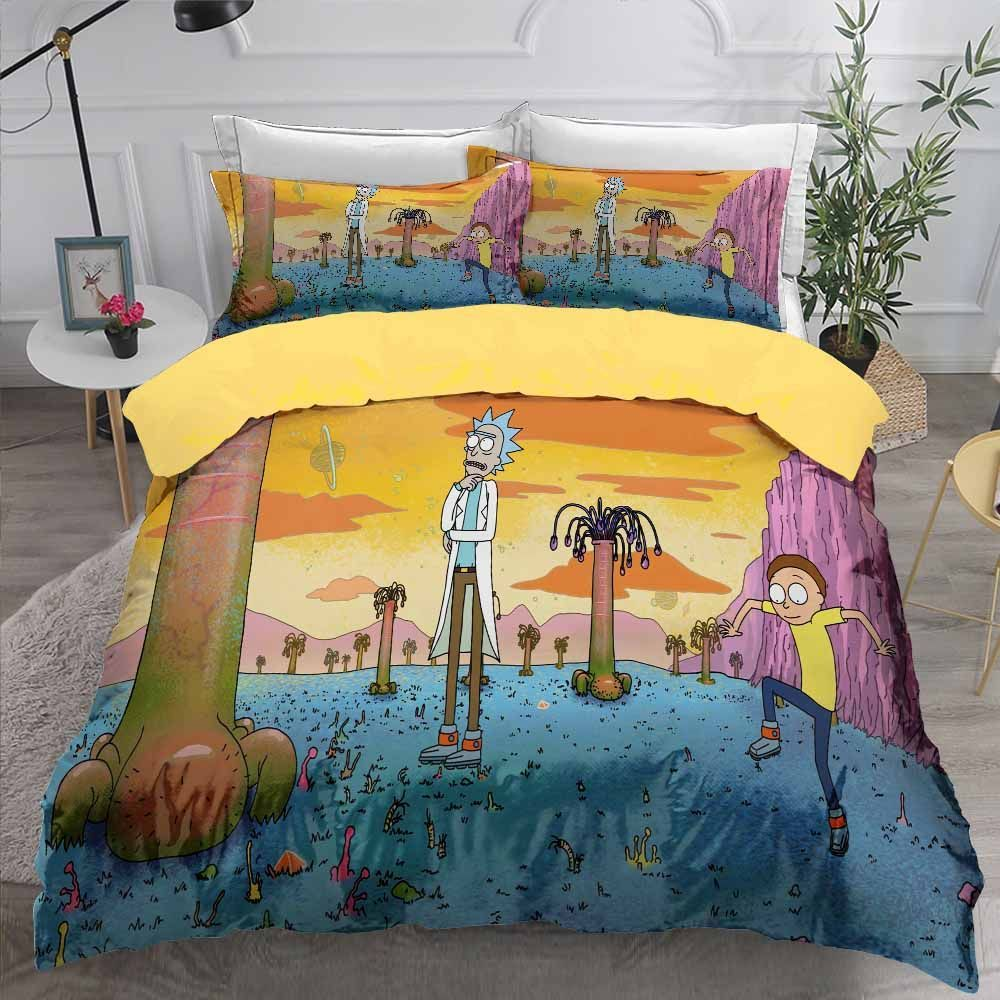 Teens Duvet Cover Set Cartoon Bed Linen Set Queen King Double Bedding Sets Funny Character Decor Winter Custom Comforter Set