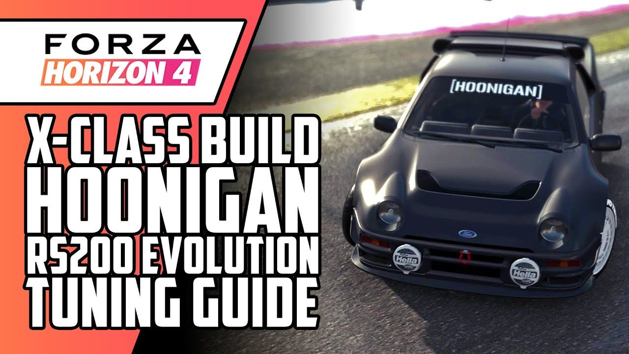 1986 Hoonigan Ford Rs200 Evolution Gameplay Tuning Guide Forza