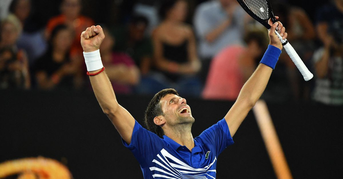 Novak Djokovic Australian Open Mens Champion Is In Apex Mode Again The Ringer Novak Djokovic Austra Tennis Lessons Tennis Videos Rafael Nadal Australian Open