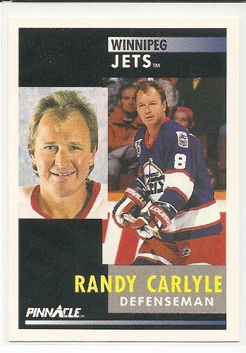 Randy Carlyle 1991-92 Pinnacle Winnipeg Jets Card 288 ** More info could be found at the image url.