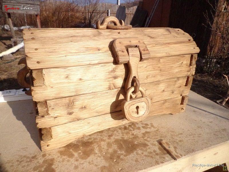 Простая деревянная кровать своими