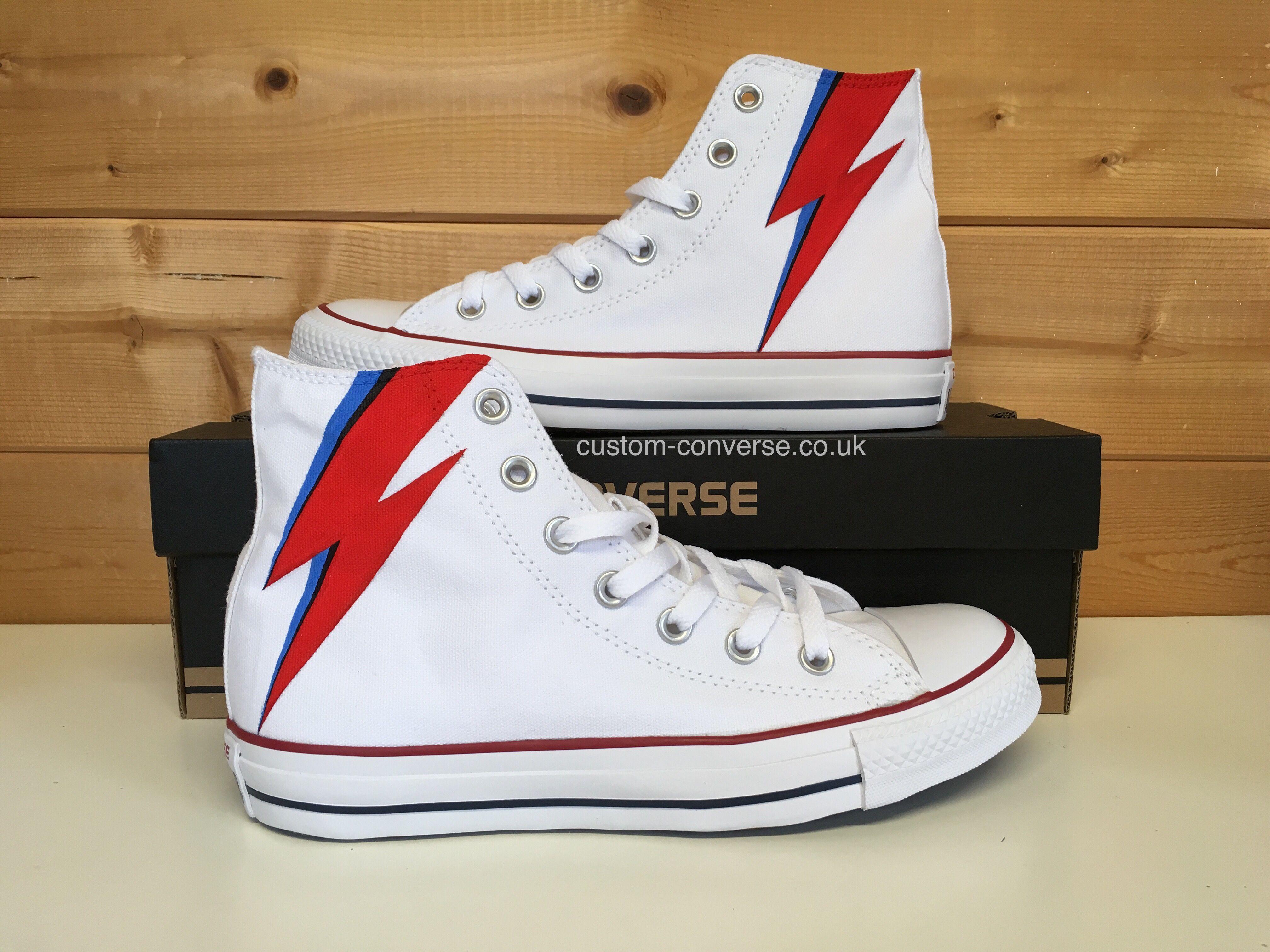 5ab52c5b71d David Bowie Aladdin Sane Converse  bowie  davidbowie  customconverse   aladdinsane