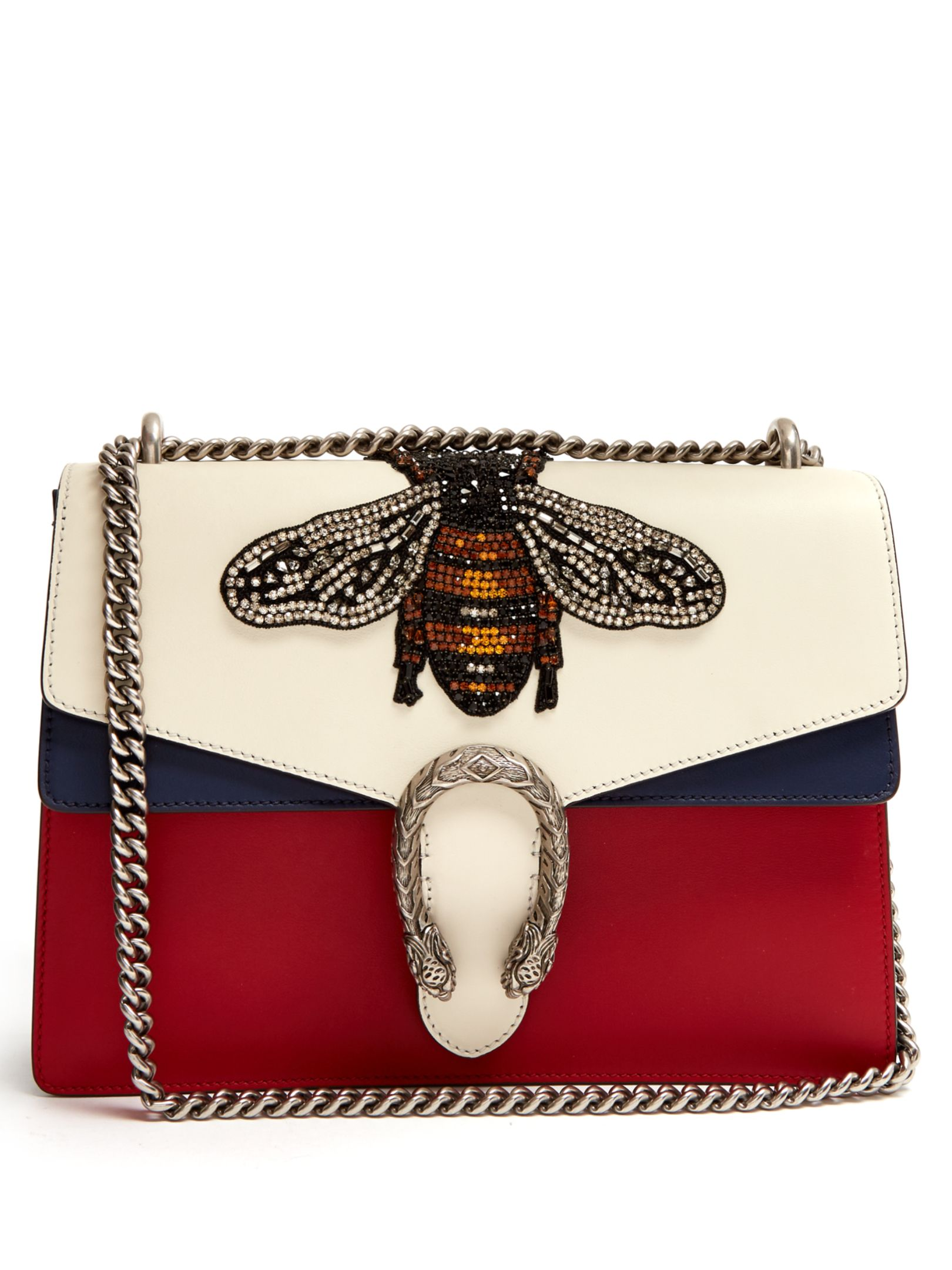 f039745c74d GUCCI Dionysus large bee appliqué shoulder bag