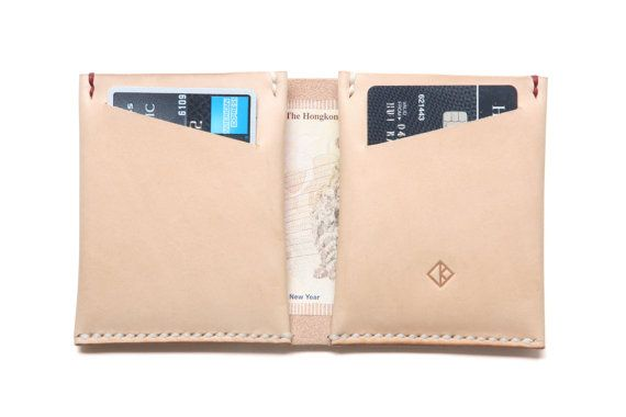 Personalized Bifold Leather Wallet, Cardholder, Natural Color ...