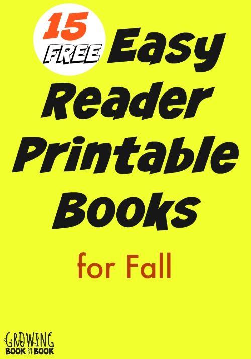 Fall Easy Reader Printable Books for Kids | Easy reader ...