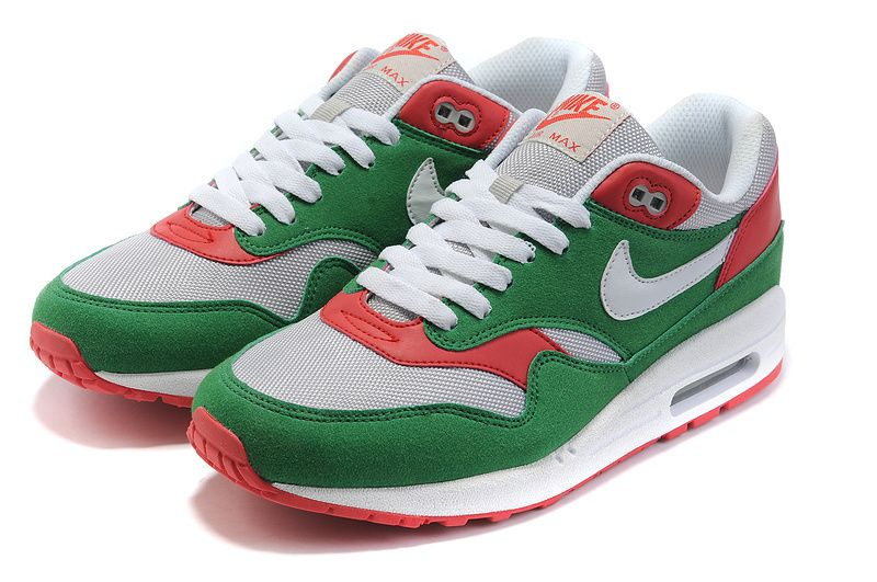womens nike air max 1 red and green