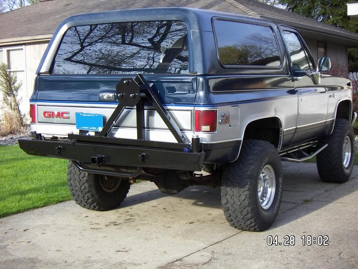 My New Tire Carrier Bumper Truck Bumpers Classic Chevy Trucks Lifted Chevy Trucks