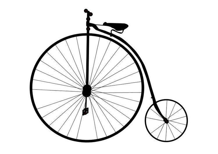 Disegno Da Colorare Bici Antica Scuola Disegni Da Colorare