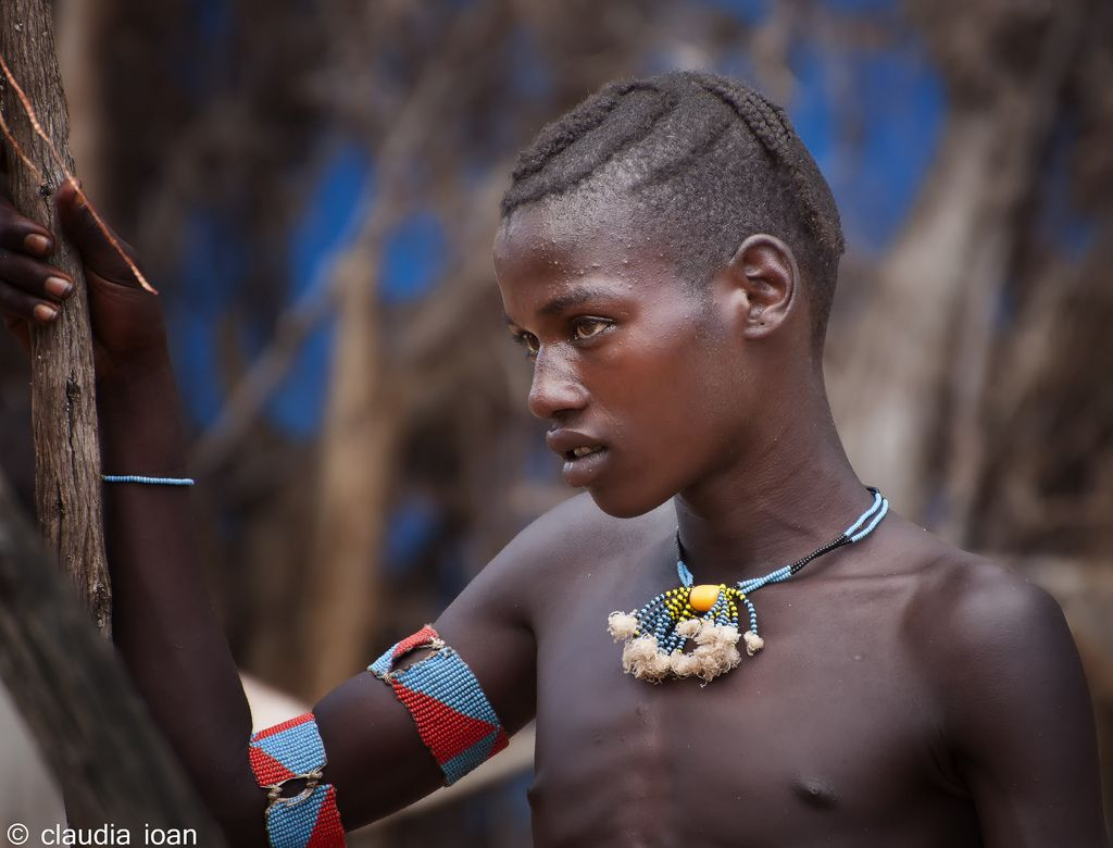 Africa | Portrait taken at Key Afer market, Omo Valley, Ethiopia | © Claudia Loan