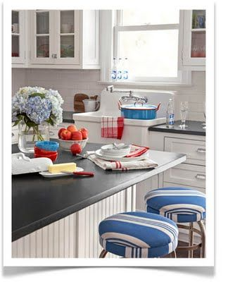 Interiors Etc. Details: Summer Decorating in Red, White and Blue
