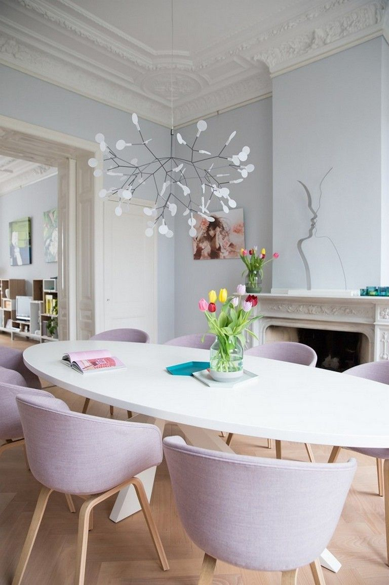 80 Spring Tide Pastel Dining Chair Modern And Minimalist Fashion